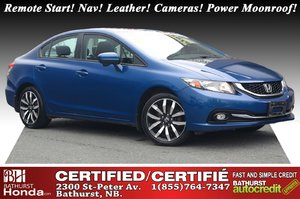 2015 Honda Civic Sedan Touring New Tires & Brakes! Remote Start! Nav! Leather! Cameras! Power Moonroof! Heated Seats! XM Radio!