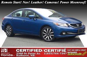 2015 Honda Civic Sedan Touring New Tires & Brakes! Remote Start! Nav! Leather! Cameras! Power Moonroof! Heated Seats! XM Radio!