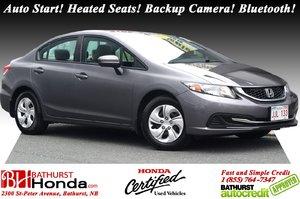2015 Honda Civic Sedan LX Auto Start! Heated Seats! Backup Camera! Bluetooth!