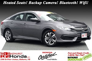 2016 Honda Civic Sedan LX - Low Km's! Low Km's! Heated Seats! Backup Camera! Bluetooth! Wifi! Apple CarPlay!