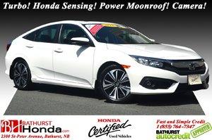 2016 Honda Civic Sedan EX-T Turbo! Honda Sensing! Power Moonroof! Camera!