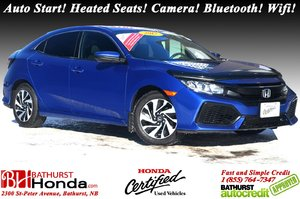 2017 Honda Civic Sedan Hatchback - LX Auto Start! Heated Seats! Backup Camera! Bluetooth! Wifi! Apple CarPlay!