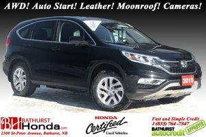 2015 Honda CR-V EX-L - AWD AWD! Auto Start! Leather! Moonroof! Cameras!
