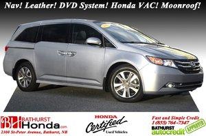 2016 Honda Odyssey TOURING - Low KM's! Low KM's! Nav! Leather! DVD System! Honda VAC! Moonroof! Heated Seats! Backup Camera!