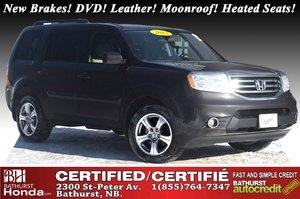 2013 Honda Pilot EX-L - 4WD New Brakes! DVD! Leather! Power Moonroof! Heated Seats! 8 Passengers!