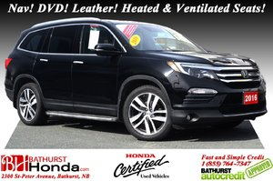 2016 Honda Pilot Touring 7 passengers! Nav! DVD! Leather! Heated and Ventilated Seats!