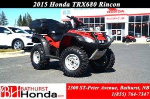 2015 Honda TRX680 Rincon Rear Seats! LED Lights! Fully Automatic!