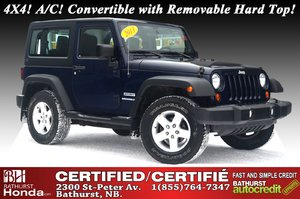 2013 Jeep Wrangler Sport 4X4! A/C! Convertible with Removable Hard Top!