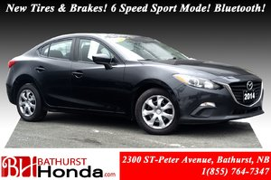 2014 Mazda Mazda3 GX-SKY New Tires & Brakes! 6 Speed Skyactiv-Drive Sport mode! Bluetooth! Push Start! A/C!