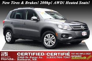 2014 Volkswagen Tiguan Trendline 4Motion - AWD New Tires & Brakes! 200hp! AWD! Heated Seats! Bluetooth!