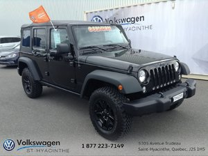 Jeep Wrangler Unlimited Willys Wheeler+2 TOITS+MAGS+MANUELLE 2016 FINANCEMENT DISPONIBLE