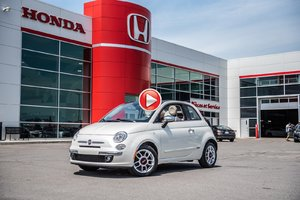2012 Fiat 500 LOUNGE DECAPOTABLE,CUIR,AUTOMATIQUE WOW 93013A  BLANC
