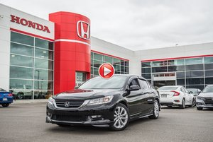 2015 Honda ACCORD SDN L4 TOURING GARANTIE 10ANS/200,000 KILOMETRES* S2554   NOIR