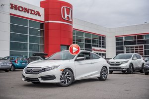 2016 Honda CIVIC CPE LX GARANTIE 10ANS/200,000 KILOMETRES* P4747 BLANC