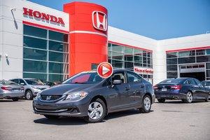 2015 Honda CIVIC SDN LX GARANTIE 10 ANS/200,000 KILOMETRES* P4759   GRIS