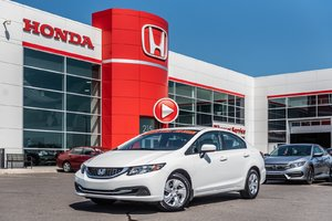 2015 Honda CIVIC SDN LX GARANTIE LALLIER HONDA 10 ANS OU 200,000KM MOTOPRO P4863  BLANC