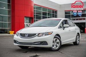 2015 Honda CIVIC SDN LX GARANTIE 10ANS/200,000 KILOMETRES* P4574 BLANC