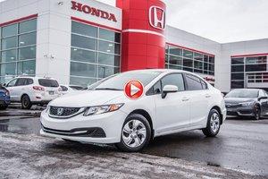 2015 Honda CIVIC SDN LX LX/GARANTIE 10ANS 200,000 KILOMETRES P4662  BLANC