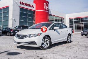 2015 Honda CIVIC SDN LX GARANTIE 10 ANS/200,000 KILOMETRES* Z2144  BLANC
