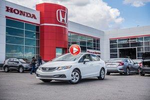 2015 Honda CIVIC LX GARANTIE 10 ANS/200,000 KILOMETRES * P4752   BLANC