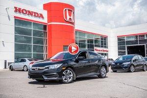 2016 Honda CIVIC SDN LX GARANTIE LALLIER 10 ANS OU 200,000KM MOTOPROPULSEU GARANTIE 10 ANS 200,000KM