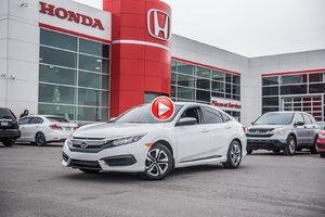 2017 Honda CIVIC SDN LX GARANTIE 10 ANS/200,000 KILOMETRES* P4702  BLANC