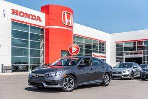 2017 Honda CIVIC SDN LX GARANTIE LALLIER HONDA 10 ANS OU 200,000KM MOTOPRO P4859  GRIS
