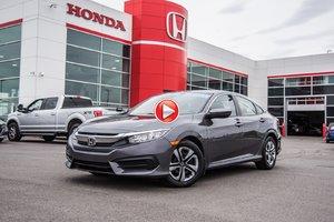 2018 Honda CIVIC LX GARANTIE 10ANS/200,000 KILOMETRES* P4777   GRIS