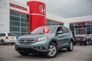 2013 Honda CR-V EX 4W EX/GARANTIE 10ANS 200,000 KILOMETRES* 83492A VERT
