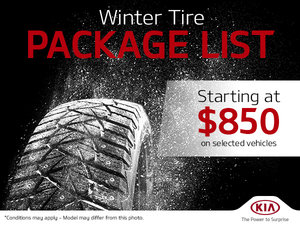 Winter Tire Package List