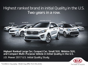 Highest Ranked Brand in Initial Quality in the U.S. - Two Years in a Row