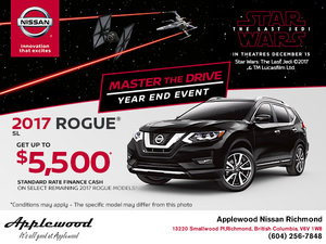 Save Big on the 2017 Nissan Rogue