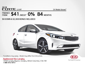 Get the 2018 Kia Forte Today