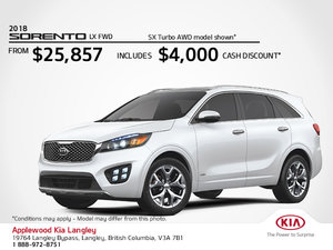 Get the 2018 Kia Sorento Today