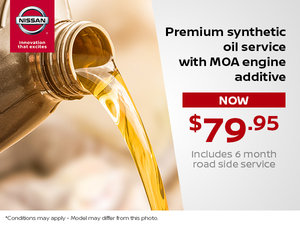 Premium Synthetic Oil Service with MOA Engine Additive