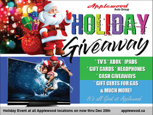 Applewood Auto Group's Holiday Giveaway
