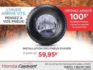 L'hiver arrive vite, pensez à vos pneus!