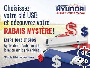 Découvrez votre rabais mystère sur Clef USB