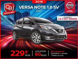 Versa Note 1.6 SV 2019 CVT