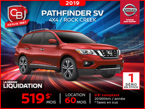 PATHFINDER SV 2019 4x4 Rock Creek