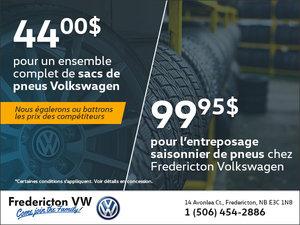 Économisez sur le changement de pneus cette saison avec Volkswagen Fredericton