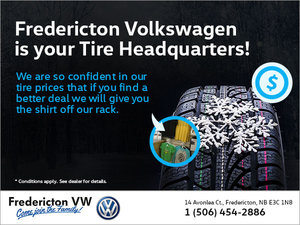 Fredericton Volkswagen is Your Tire Headquarters