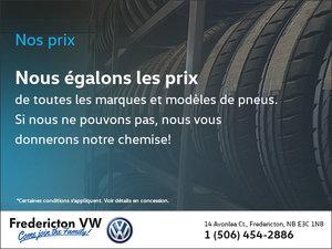 Nous égalons les prix des pneus