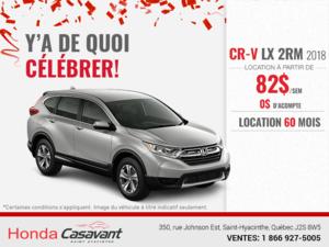 Procurez-vous le Honda CR-V 2018!