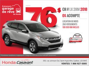 Procurez-vous la Honda CR-V 2018!