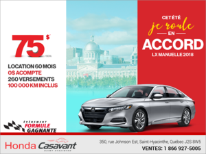 Louez la Honda Accord 2018!