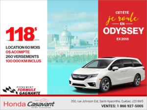 Louez la Honda Odyssey 2018!