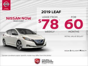 Get the 2019 Nissan Leaf today!
