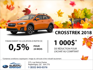 Procurez-vous le Crosstrek 2018!