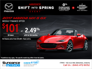 Get the 2017 Mazda MX-5 today!